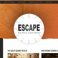 The Final Count Down Escape - Website Design by Reaxion Graphics, Brandon Manitoba
