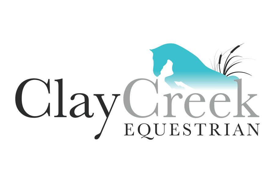 Clay Creek Equestrian Logo by Reaxion Graphics, Brandon, Manitoba