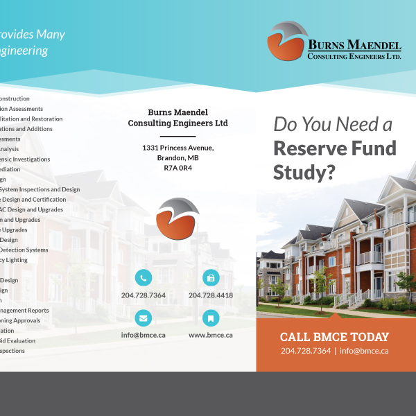 Burns Maendel Brochure Print Design - Brandon, Manitoba