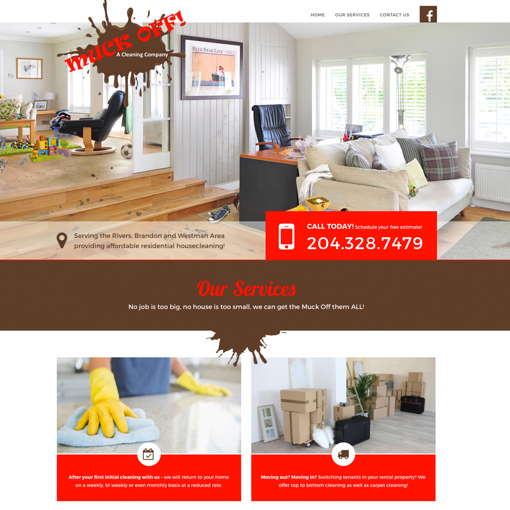 Muck Off Web Design - Rivers, Manitoba, by Reaxion Graphics, Brandon, Manitoba