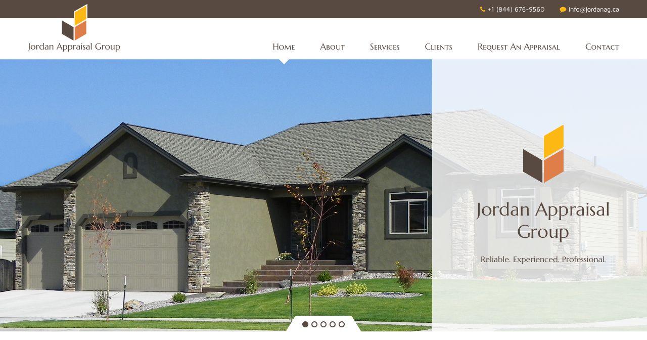 Jordan Appraisal Group website design