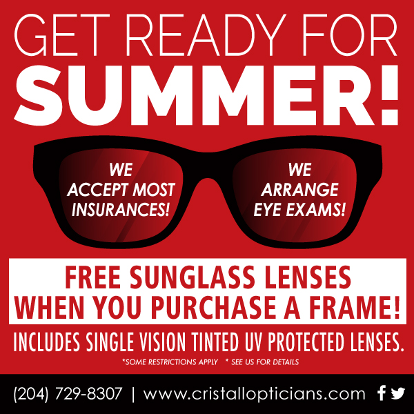 Cristall Opticians Poster Design, Brandon, MB