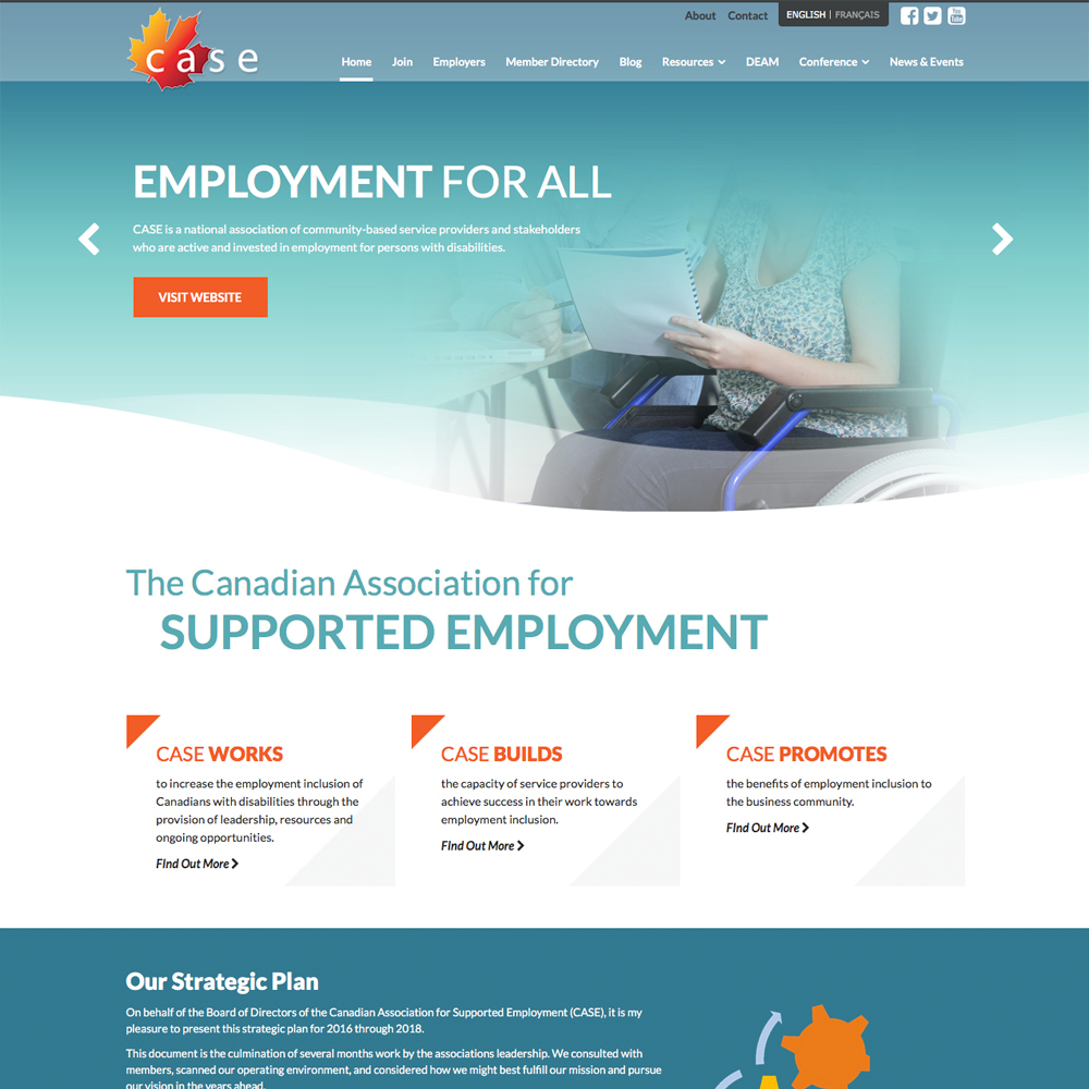 Employment For All Website Design - Canada, by Reaxion Graphics, Brandon Manitoba