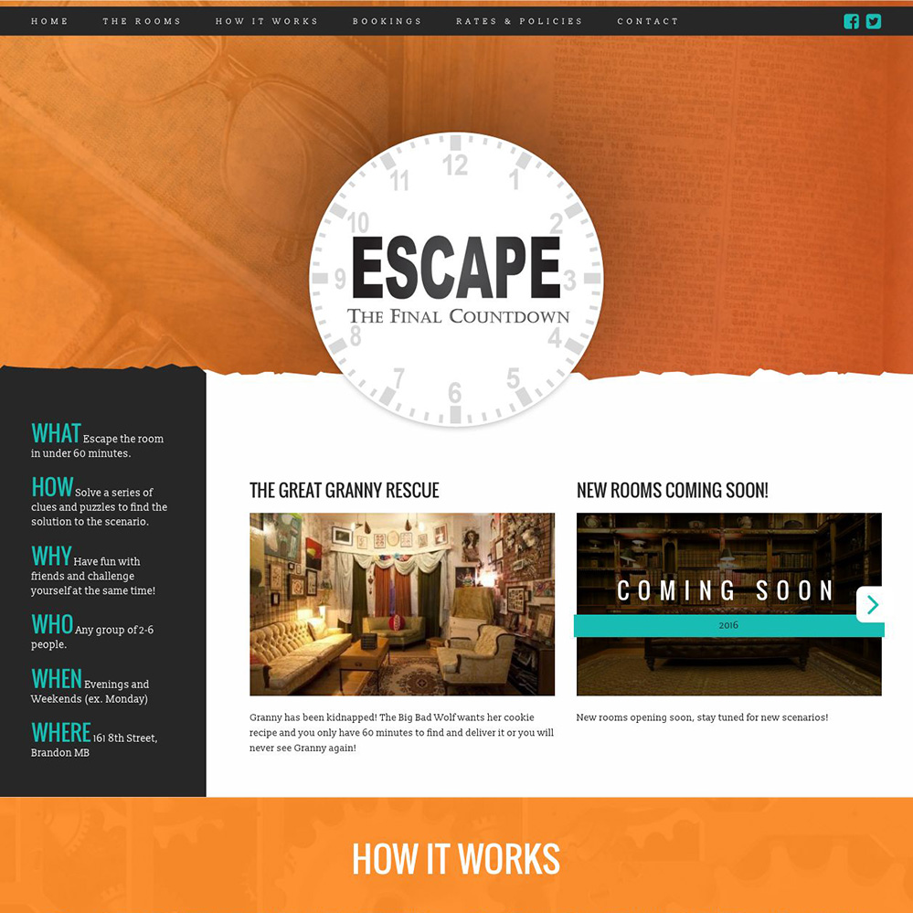 Escape - The Final Countdown - Escape Room Website, Brandon, Manitoba