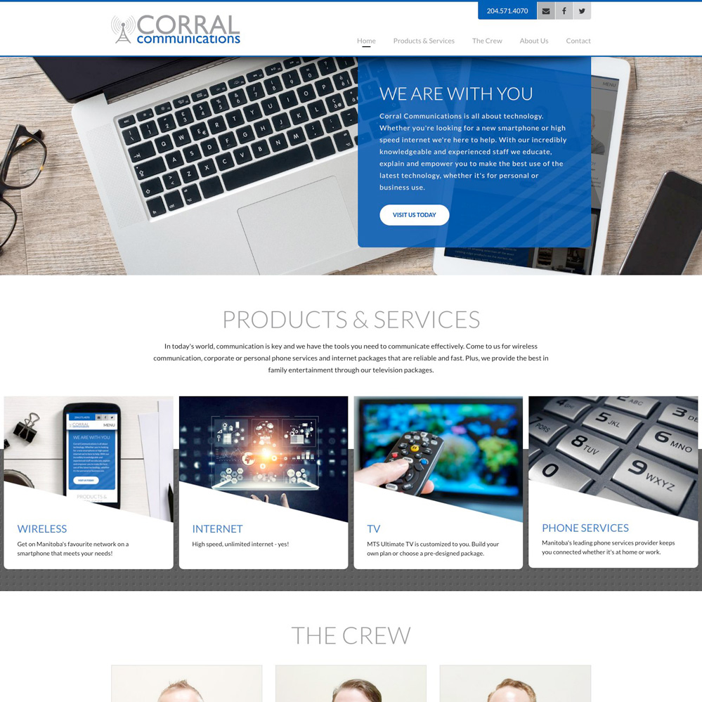 Corral Communications - Website Design by Reaxion Graphics, Brandon, Manitoba