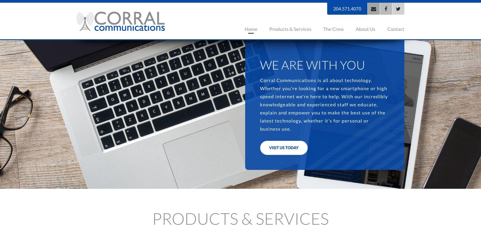 Web design - Corral Communications, Brandon, Manitoba