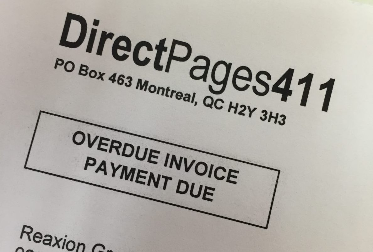 Full DirectPages411 Fake Invoice