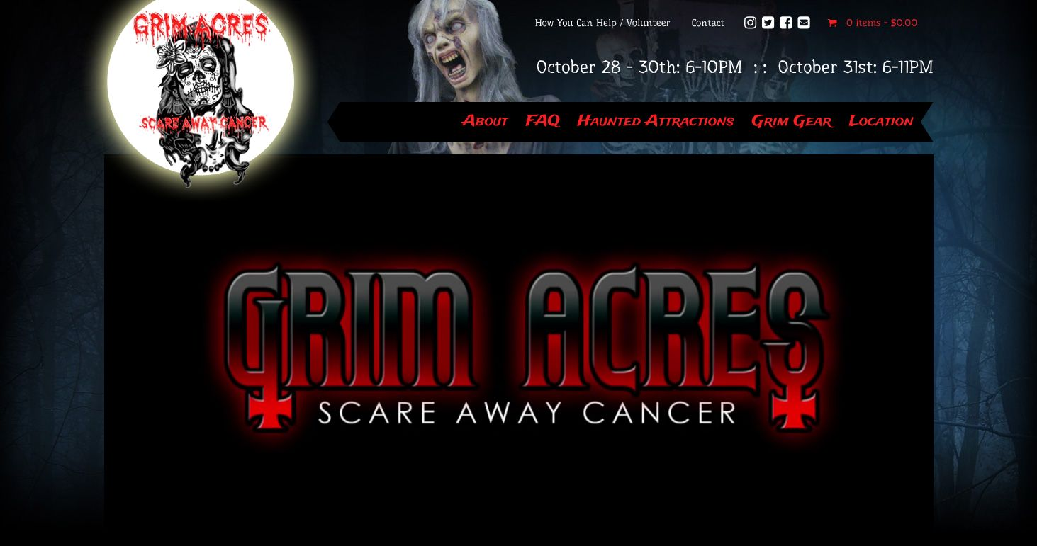 Grim Acres website, Brandon, Manitoba