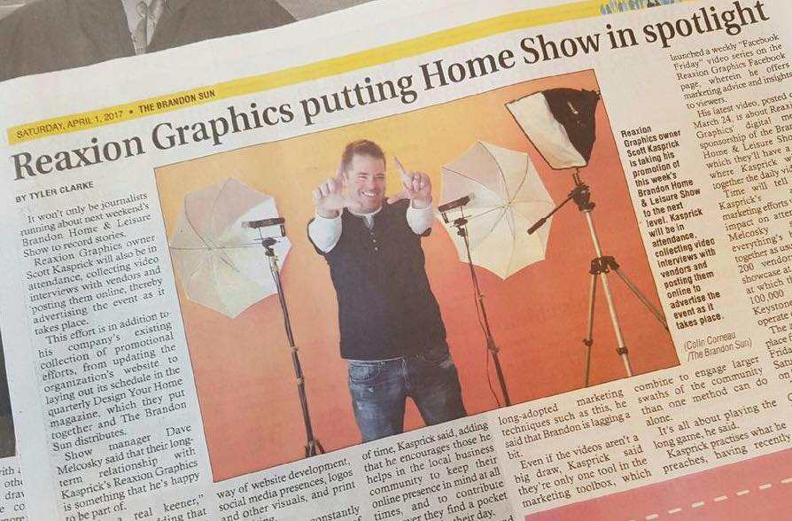 Scott Kasprick | Reaxion Graphics | Brandon, Manitoba - Brandon Sun, Saturday, April 1, 2017