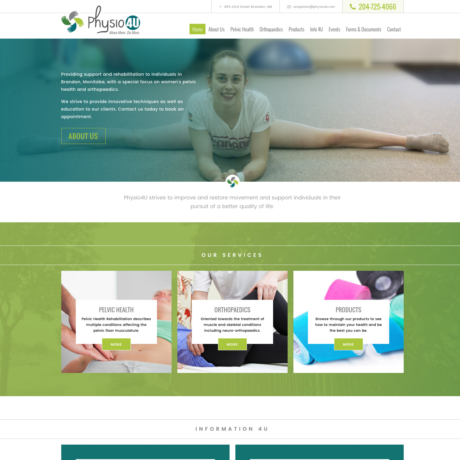 Physio 4U Website