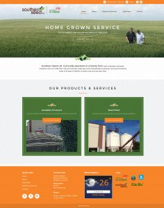 Southern Seed Ltd. Website by Reaxion Graphics, Brandon, Manitoba