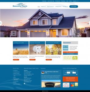 Beautiful Plains Credit Union Website by Reaxion Graphics, Brandon, Manitoba