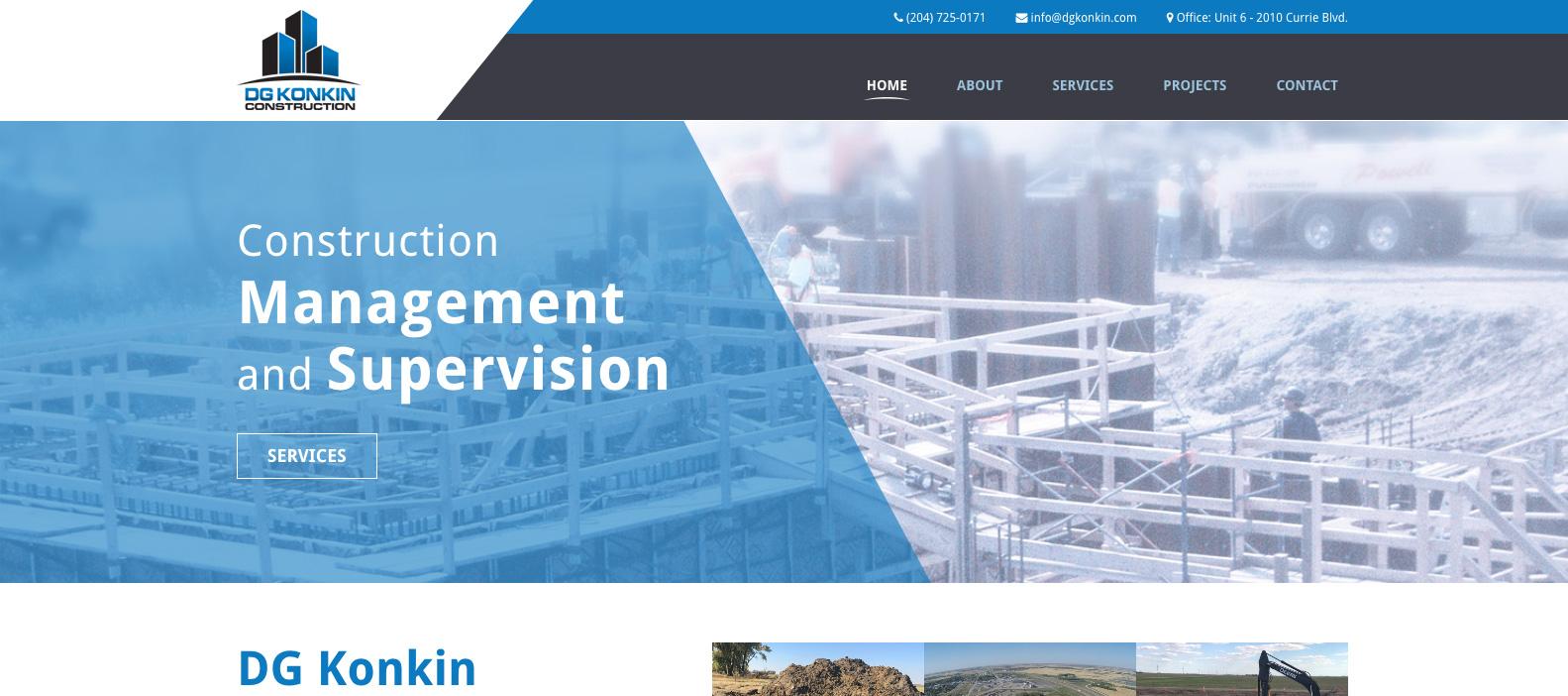 DG Konkin, Brandon, Manitoba, Web design