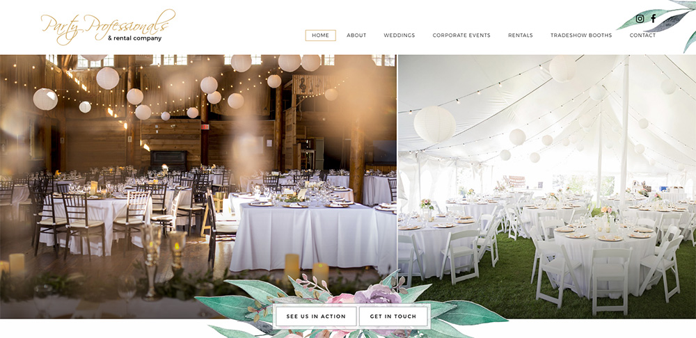Party Professionals, Brandon, Manitoba, Web design